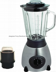 Ice crush 2 in 1 glass jar blender with CB certificate