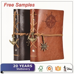 Vintage Personalized Leather Writing Journal Notebook Classic Spiral Bound Noteb