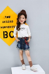 2017 New Arrival Girls Jeans Skirt On Sale Supplier