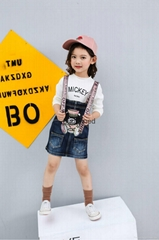 Hot Sale Suspenders Jeans Skirt for Girls On Sale Manufacture