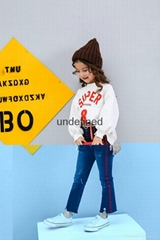 Boot Cut Jeans For Girls Ripped Children's Clothing OEM