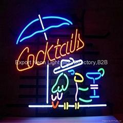 Custom Real Glass Bar Neon Light Signs