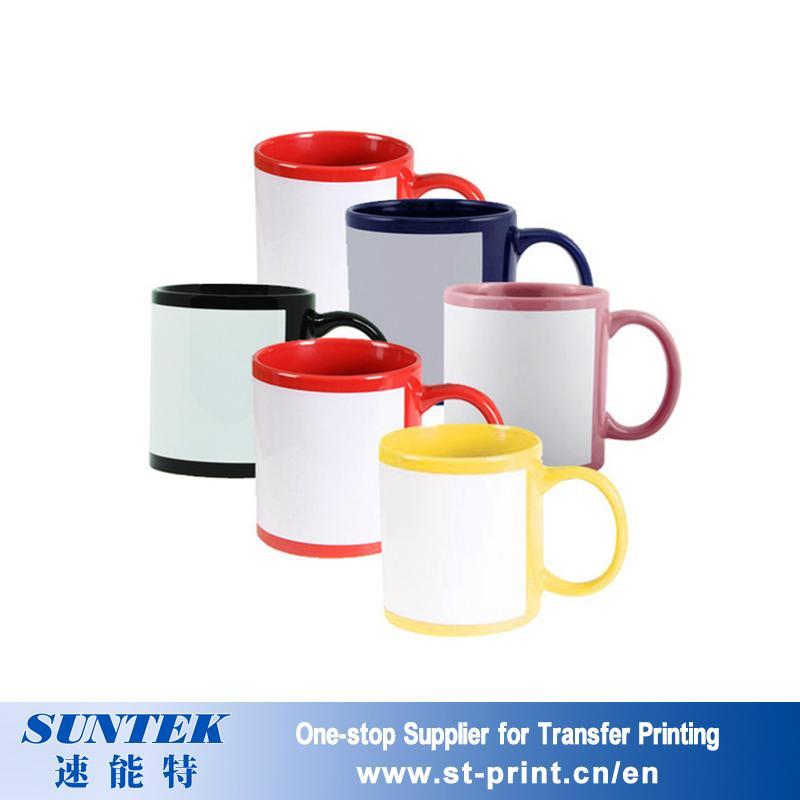 Sublimation Color Changing Mugs Colorful Ceramic Porcelain Blank White Mug 3