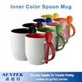 Sublimation Color Changing Mugs Colorful Ceramic Porcelain Blank White Mug 4