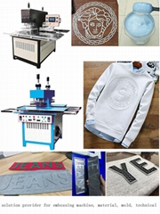 Full Automatic clothing silicone 3d embossing machine