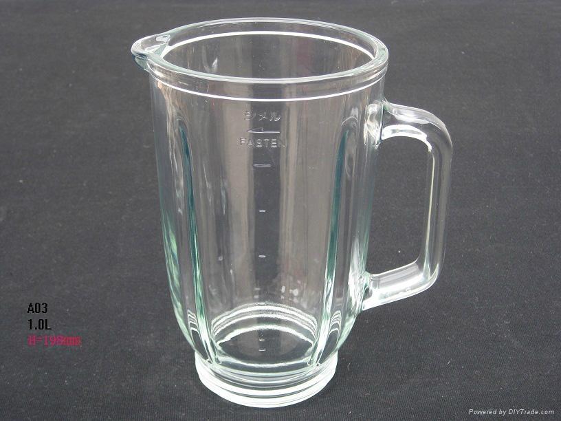 China factory hot sale custom blender part glass jar 2