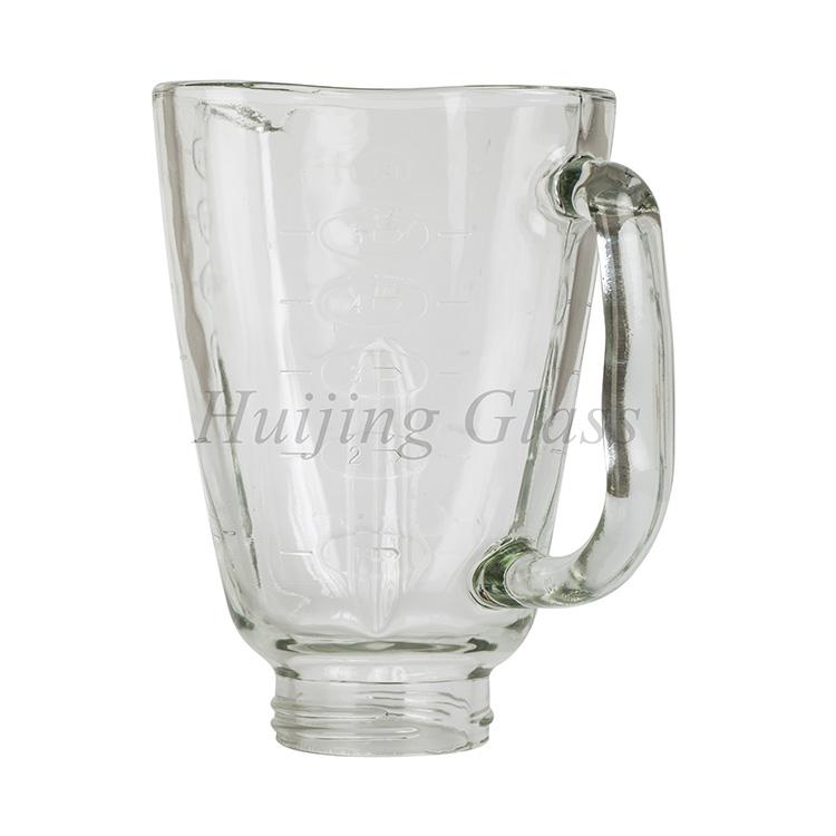 2017 new design hot selling plum shape spare parts blender glass cube jar /cup 2