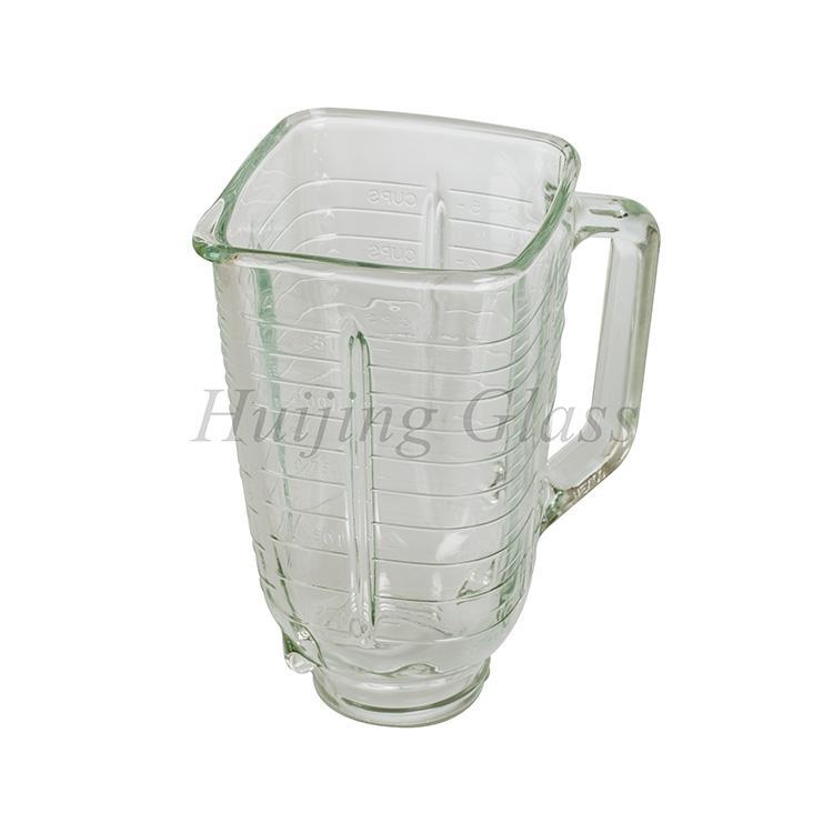 4655 1.25L blender replacement spare parts square glass jar vasos de vidrio 1