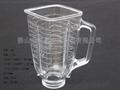 4655 1.25L blender replacement spare parts square glass jar vasos de vidrio 2