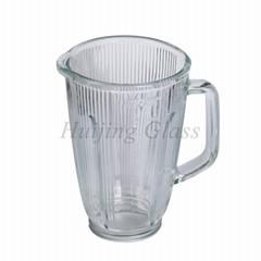 1.5L kitchen appliance replacement soda-lime striped blender glass jar A11-3