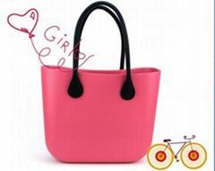 handbag obag custom design promotional pink waterproof silicone beach bag