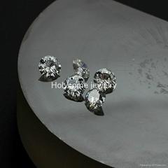 Moissanite factory sale round 6.5MM 1 carat EF color VVS