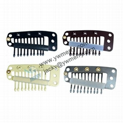 Hair Extension Clips Snap Metal Clips With Silicone