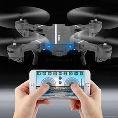 Portable Black FPV HD Drone Foldable Pocket RC Quadcopter With wifi camera ufo