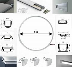 Waterproof Aluminum Bathroom Corner Profile Of LED Light Strips
