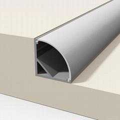 Aluminium extrusion profile Extra Wide used in kitchen corner/wall corner