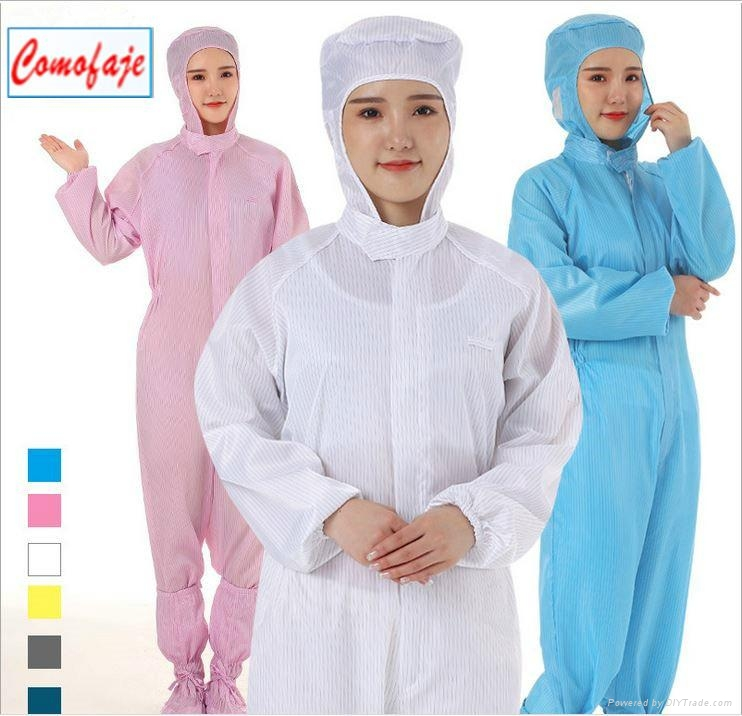 China ESD Coverall Cleanroom Clothes Anti-static Garments 1