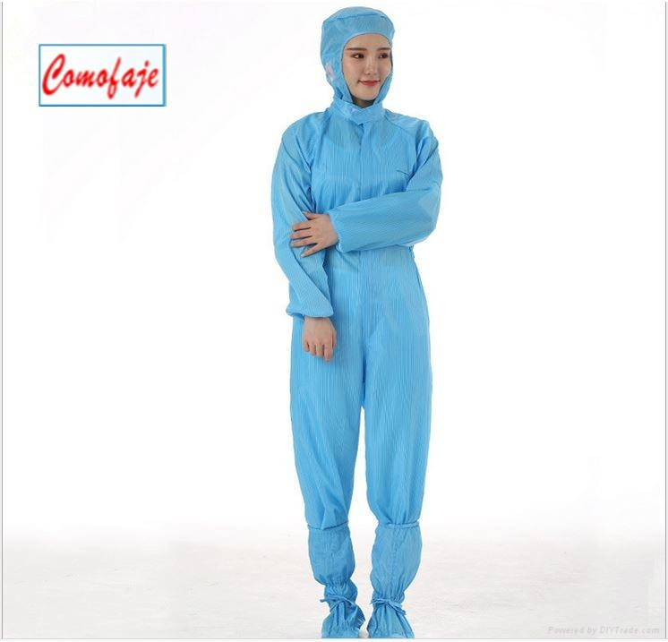 China ESD Coverall Cleanroom Clothes Anti-static Garments 3
