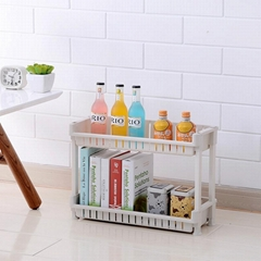 7065 kitchenroom 2 layers plastic storage shelf  taizhou junya plastic factory
