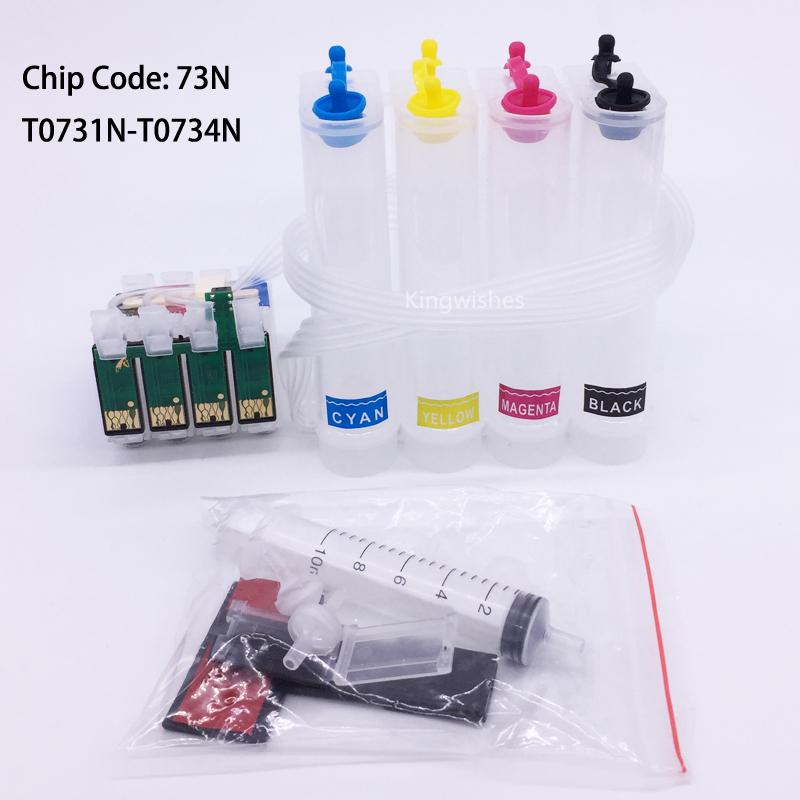 73N CISS Ink System For Epson T10 T21 T13 TX200 TX210 TX400 TX550 TX410 TX610  1