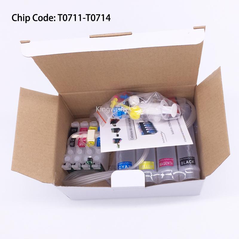 T0711 CISS Ink System For Epson S20 S21 SX100 SX110 SX200 SX210 SX400 SX510W 2