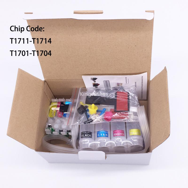 T1711 CISS Ink System For Epson XP-103 XP-203 XP-207 XP-306 XP-406 XP-313 XP-413 2