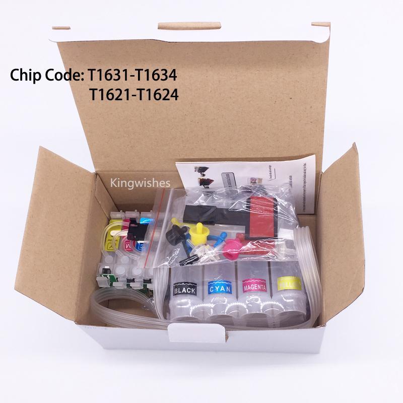 T1631 CISS Ink System For Epson WF-2010W WF-2510WF WF-2520NF WF-2530WF WF-2540WF 2