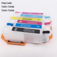 T2431 T2421 Refillable Cartridge For Epson XP-750 XP-850 XP-950 XP750 XP850
