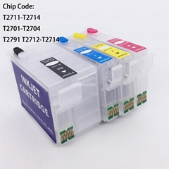 T2711 Refillable Cartridge For Epson WF-7110DTW WF-7610DWF WF-7620DTWF WF-3620