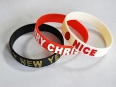 Personalized Filled Logo Silicone Bracelets