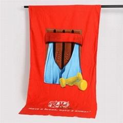 Promotional Custom Microfiber Beach Towel - Full Color Logo