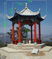 中式六角凉亭模具