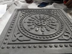 大成模具公司唐莲地砖模具和云纹砖模具
