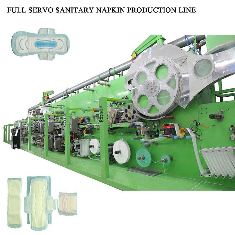 Full automatic sanitary napkin making machine 1