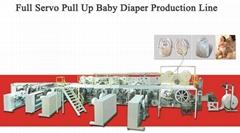 Full Servo Pull Up Baby Diaper Production Line