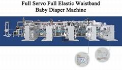 full servo elastic waist baby diaper machine