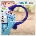 artstar hand painted personalized ceramic porcelain elephant teapot 3