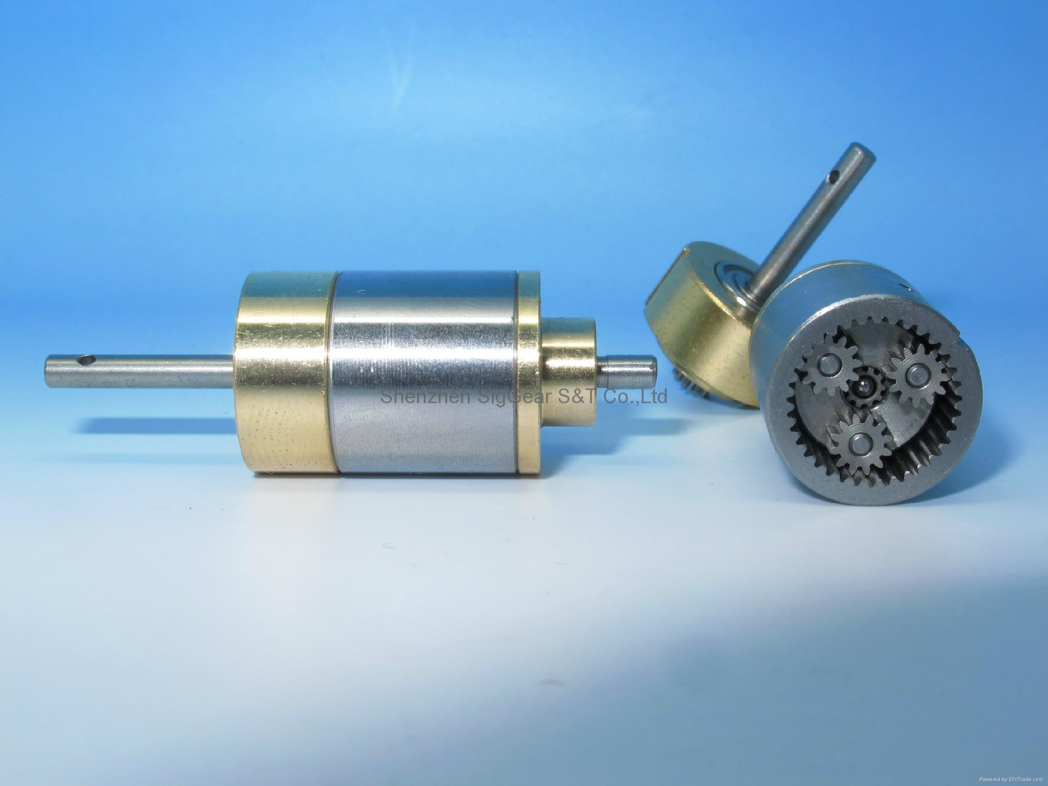 Precision dentist handpiece mini gearbox small modulus metal reducer gearbox 4