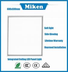 2017 best price 600x600 integratal led panel light