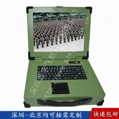 15寸上翻工業便攜機機箱工控一體機鋁防水鍵盤