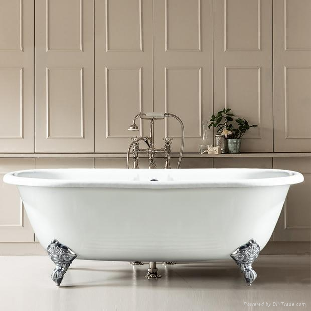 double ended cast iron hot bathtub on imperial feet 2