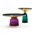 Modern fashion design round glass bell coffee table replica for home furniture (Hot Product - 1*)