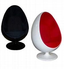 Oval egg pod chair
