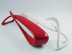 Modern Classic Designer Fiberglass E-turn Sculptural Bench by Brodie Neill