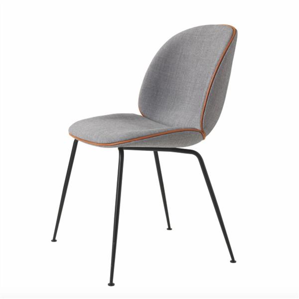 Upholstered ve  et metal base replica gubi beetle dining chair by gamfratesi 1