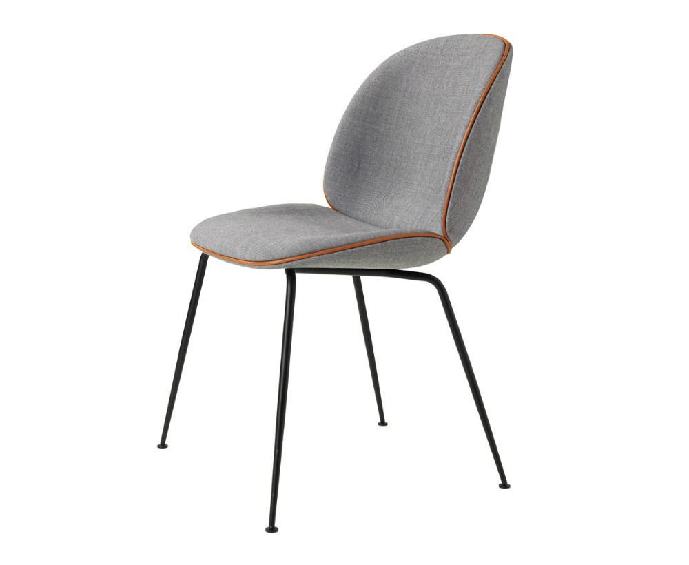 Upholstered ve  et metal base replica gubi beetle dining chair by gamfratesi 3