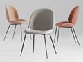 Upholstered ve  et metal base replica gubi beetle dining chair by gamfratesi 5