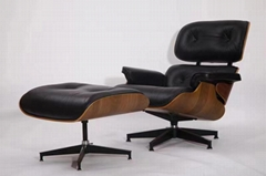 Classic modern furniture herman mille eames lounge chair and ottoman