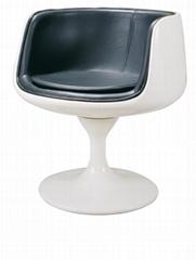 Modern fiberglass leisure zanotta dora tea dining chair cup shaped chair