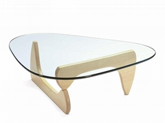 herman miller walnut glass top noguchi coffee table